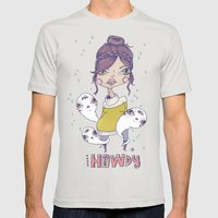 Howdy - From a girl with ghosts Mens Fitted Tee Silver SMALL