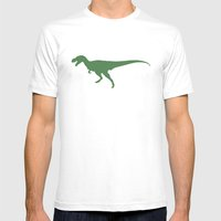 T- Rex Dinosaur Emerald … Mens Fitted Tee White SMALL