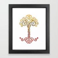 Woven Tree of Life Framed Art Print