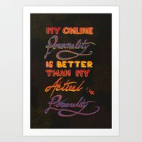 Online Personality Art Print