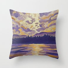 Okanagan Landscape in Purple and Hansa Throw Pillow