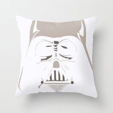 Ghost Darth Vader Throw Pillow