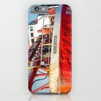iPhone Cases featuring Le navire rouge by Sébastien BOUVIER