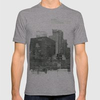 cutting through Mens Fitted Tee Athletic Grey SMALL