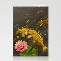 Kissing Koi Stationery Cards