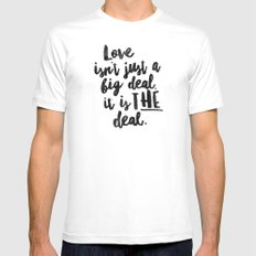 Love is the deal Mens Fitted Tee White SMALL