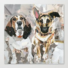 Michaux and Cullie Canvas Print
