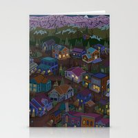 A Town On The Edge Of Ad… Stationery Cards