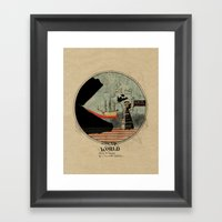 Sea Monsters Eat All Tra… Framed Art Print