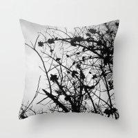 Spooky Tree Silhouette Throw Pillow