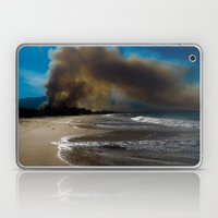 Brush fire and the beach  Laptop & iPad Skin