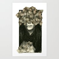 Head Case Art Print