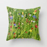 Colourful Garden - JUSTA… Throw Pillow