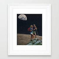 moon explorers Framed Art Print