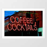 Coffee Cocktails Art Print