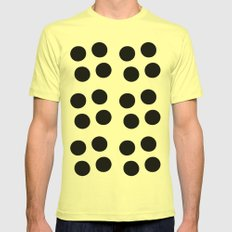 Copijn Black & White Dots Mens Fitted Tee Lemon SMALL