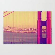 Golden Gate Into San Francisco Canvas Print