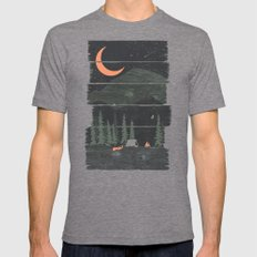 Wish I Was Camping... Mens Fitted Tee Tri-Grey SMALL