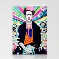 Frida Kahlo by Paola Gonzalez Stationery Cards