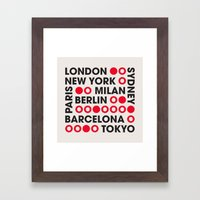 I Love This City Typogra… Framed Art Print