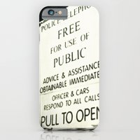 iPhone & iPod Case featuring Doctor Who: PULL TO OPEN! by Christine Leanne