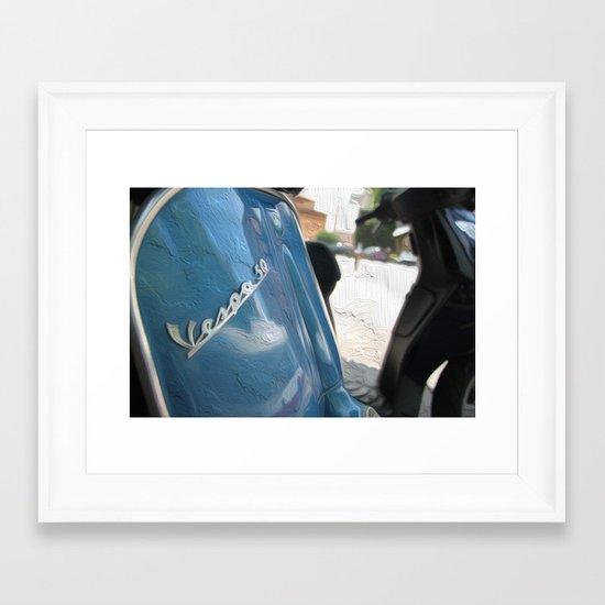 Vespa dreaming Framed Art Print