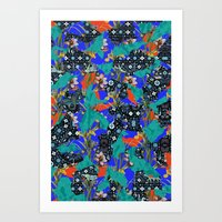 Ancient Wallpaper Art Print