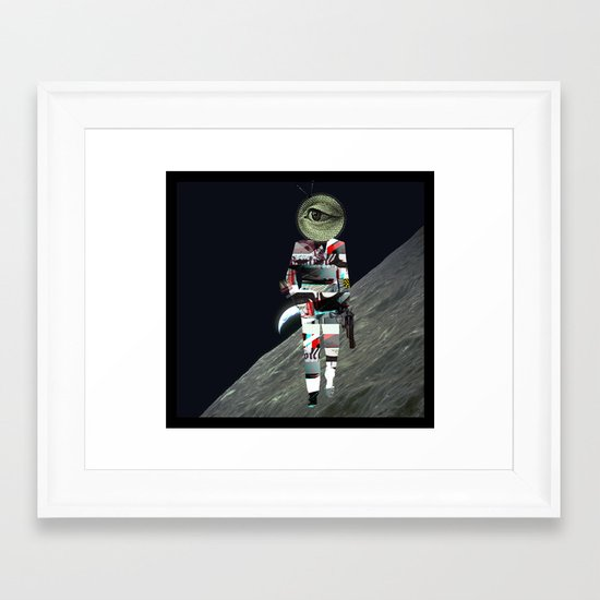 20 Space Framed Art Print