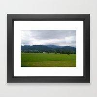 Plains. Framed Art Print