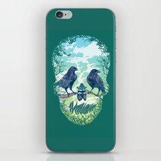 Nature's Skull (Green) iPhone & iPod Skin