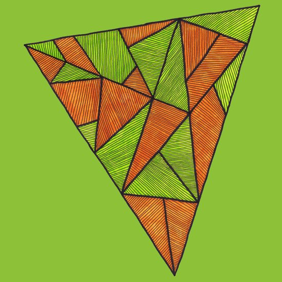 Orange loves green Art Print