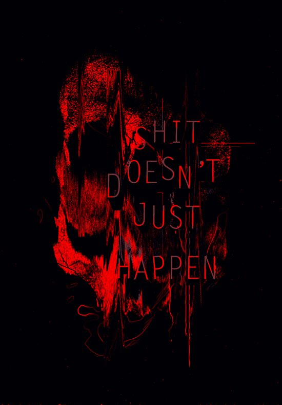 Shit Doesn't Just Happen Canvas Print