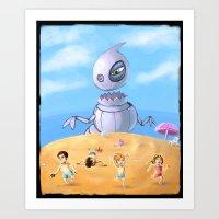 Giant Robo Dino Art Print