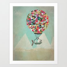 a little adventure Art Print