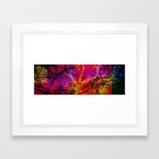 Vegetal Collage Framed Art Print