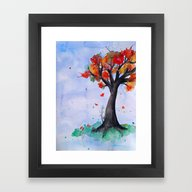Framed Art Print featuring Autumn Begins by DuckyB (Brandi)