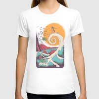 waves T-shirts featuring Surf Before Christmas by Victor Vercesi