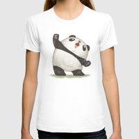 panda T-shirts featuring Panda by Toru Sanogawa