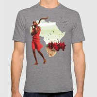 Poster Afryka! Mens Fitted Tee Tri-Grey SMALL