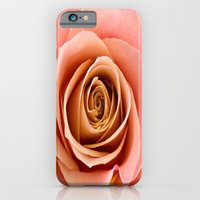 iPhone Cases featuring Vibrant Salmon Rose by Judy Palkimas