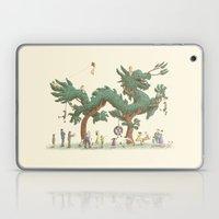 The Night Gardener - Dragon Topiary  Laptop & iPad Skin