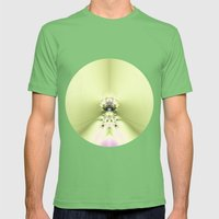 Green Meditation Mens Fitted Tee Grass SMALL