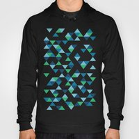 Triangles Blue And Green Hoody