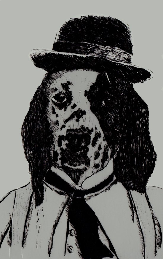 Dog Chaplin Art Print