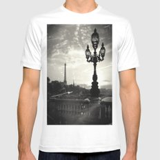 Mysterious Paris Mens Fitted Tee White SMALL