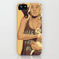 iPhone Cases featuring GAME OF THRONES 80/90s ERA CHARACTERS - Daenerys Targaryen by Mike Wrobel