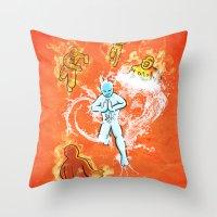 Elemental War Throw Pillow