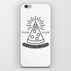 Dollar Slice WHITE iPhone & iPod Skin