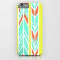 Stripes: Burnt Umber & F… iPhone 6 Slim Case