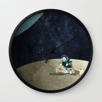 The Space Gardener Wall Clock
